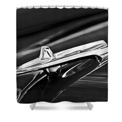 1955 Desoto Hood Ornament 4 Shower Curtain by Jill Reger