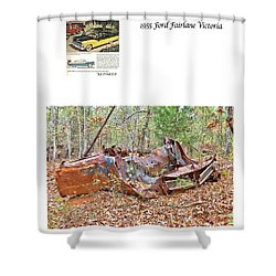 1955 Ford Fairlane Victoria Shower Curtain