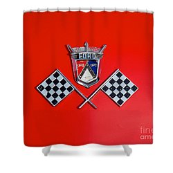 1955 Ford T-bird Logo Shower Curtain