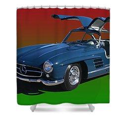 1955 Mercedes Benz 300 S L  Shower Curtain