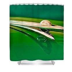 1955 Packard Clipper Hood Ornament 3 Shower Curtain by Jill Reger