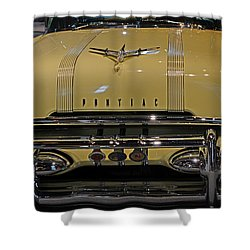 1955 Pontiac Chieftain Front Shower Curtain by Paul Ward