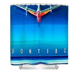 1955 Pontiac Safari Hood Ornament 4 Shower Curtain by Jill Reger