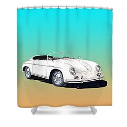 1955 Porsche Speedster Rhd Shower Curtain by Jack Pumphrey