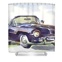 1955 Thunderbird Shower Curtain