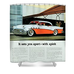 1956 - Buick Roadmaster Convertible - Advertisement - Color Shower Curtain