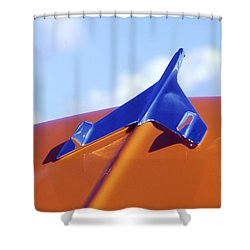 1956 Chevrolet Belair Hood Ornament Shower Curtain by Jill Reger