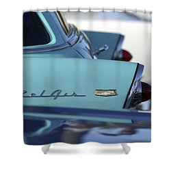 1956 Chevrolet Belair Nomad Rear End Shower Curtain by Jill Reger