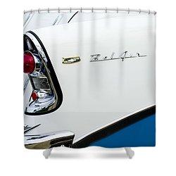 1956 Chevrolet Belair Tail Light Shower Curtain by Jill Reger