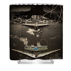 1956 Chevrolet Rust Bucket Sepia Toned Shower Curtain
