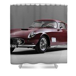1956 Ferrari Gt 250 Tour De France Shower Curtain by Gianfranco Weiss