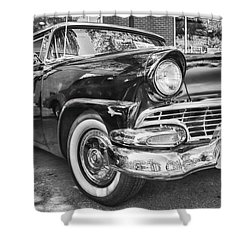 1956 Ford Fairlane Shower Curtain by Theresa Tahara