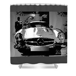 1956 Mercedes Benz 300 Sl Gullwing Shower Curtain