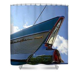 1957 Chevrolet Bel Air Fin Shower Curtain