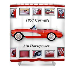 1957 Chevrolet Corvette Art Shower Curtain by Jill Reger