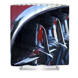 1957 Chevrolet Corvette Grille Shower Curtain by Jill Reger