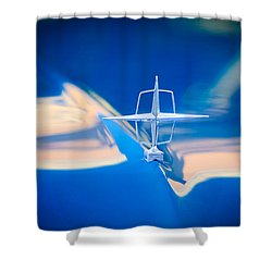 1957 Lincoln Continental Hood Ornament Shower Curtain by Jill Reger