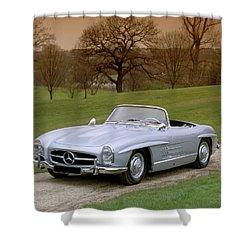 1957 Mercedes Benz 300sl 3.0 Litre Shower Curtain
