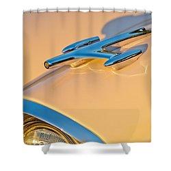 1957 Oldsmobile Hood Ornament 6 Shower Curtain by Jill Reger