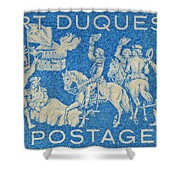 1958 Battle Of Fort Duquesne Stamp Shower Curtain