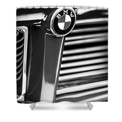 1958 Bmw 3200 Michelotti Vignale Roadster Grille Emblem -2414bw Shower Curtain by Jill Reger