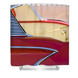 1958 Chevrolet Belair Abstract Shower Curtain by Jill Reger