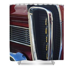 1958 Edsel Pacer Grille 2 Shower Curtain by Jill Reger