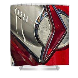 1958 Edsel Wagon Tail Light Shower Curtain by Jill Reger