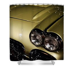 1958 Fancy Free Corvette J58s Shower Curtain