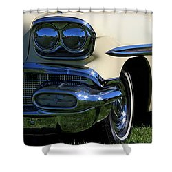 1958 Pontiac Strato Chief Shower Curtain by Davandra Cribbie