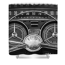 1959 Buick Lasabre Steering Wheel Shower Curtain by Jill Reger