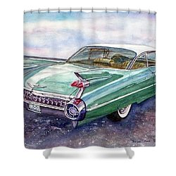 1959 Cadillac Cruising Shower Curtain