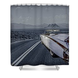 1959 Cadillac Eldorado Cool Night Shower Curtain