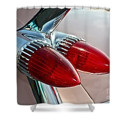 1959 Eldorado Taillights Shower Curtain by Linda Bianic