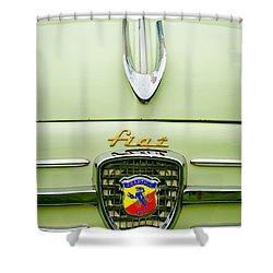 1959 Fiat 600 Derivazione 750 Abarth Hood Ornament Shower Curtain by Jill Reger