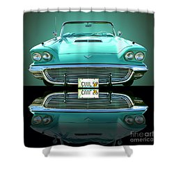 1959 Ford T Bird Shower Curtain
