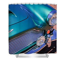 1960 Aston Martin Db4 Series II Grille Shower Curtain by Jill Reger