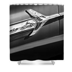 1960 Chevrolet Impala Side Emblem Shower Curtain by Jill Reger