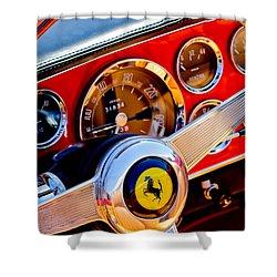 1960 Ferrari 250 Gt Cabriolet Pininfarina Series II Steering Wheel Emblem -1319c Shower Curtain