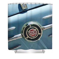 1960 Fiat 600 Jolly Emblem Shower Curtain by Jill Reger