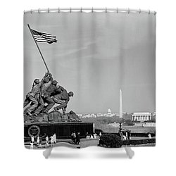 1960s Marine Corps Monument Shower Curtain