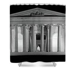 1960s Thomas Jefferson Memorial Lit Shower Curtain