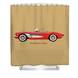 1961 Chevrolet Corvette Shower Curtain