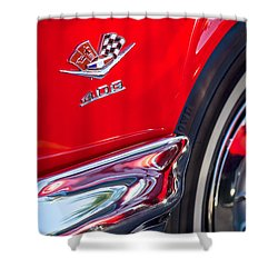 1962 Chevrolet Impala Ss 409 Emblem Shower Curtain