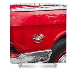 1962 Chevy Impala 409 Shower Curtain by Rich Franco