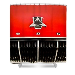 1962 Dodge Polara 500 Emblem Shower Curtain by Jill Reger