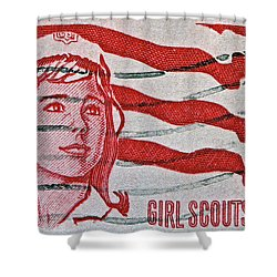 1962 Girl Scouts Stamp Shower Curtain by Bill Owen