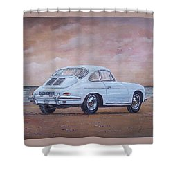 1962 Porsche 356 Carrera 2 Shower Curtain