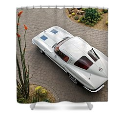 1963 Chevrolet Corvette Split Window -440c Shower Curtain