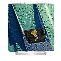 1963 Studebaker Avanti Hood Ornament Shower Curtain by Jill Reger
